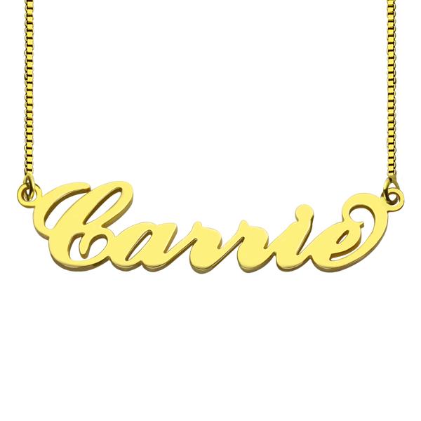 9632387782d2 Collar con nombre grabado de Carrie